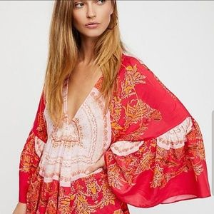 Free People Sunset Dreams Bell Sleeve Tunic